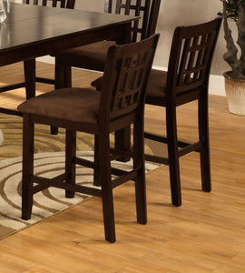 Furniture Of America Eleanor Espresso Wood Finish 2 Piece Counter Height Dining Chair