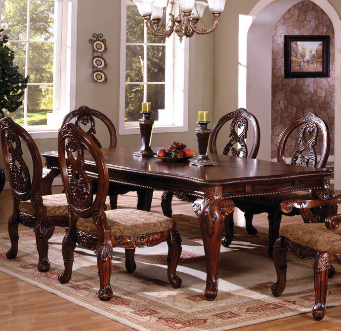 Furniture of America CM3845CH-T Tuscany II Antique Cherry Dining Table