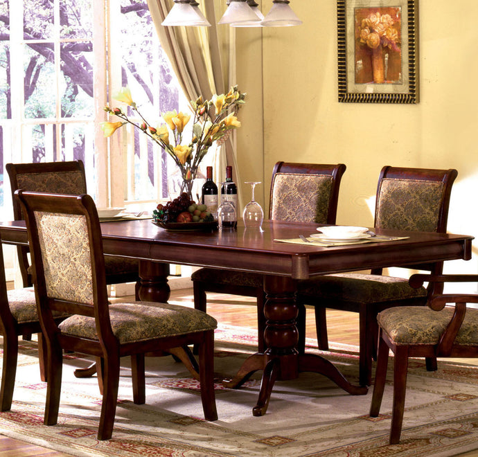 Furniture of America CM3224T ST Nicholas Antique Cherry Dining Table