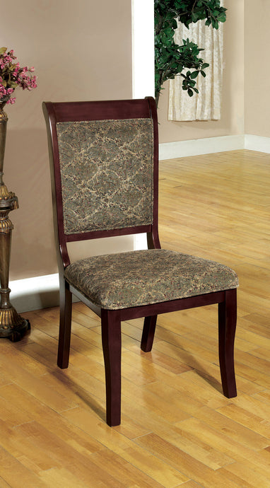 Furniture of America St. Nicholas I Antique Cherry Wood Finish 2 Piece Dining Side Chair