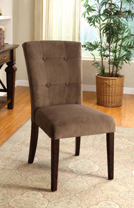Furniture of America Havana Espresso Wood Finish 2 Piece Dining Side Chair