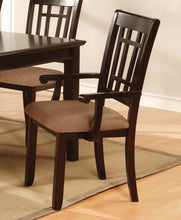 Load image into Gallery viewer, Furniture Of America Central Park I Dark Cherry 2 Piece Dining Arm Chair