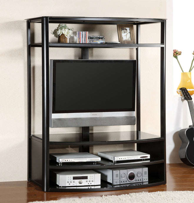 Furniture of America Faron I Black Wood Finish TV Console