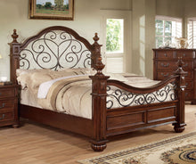 Load image into Gallery viewer, Furniture of America CM7811Q Landaluce Antique Dark Oak Queen Post Bed