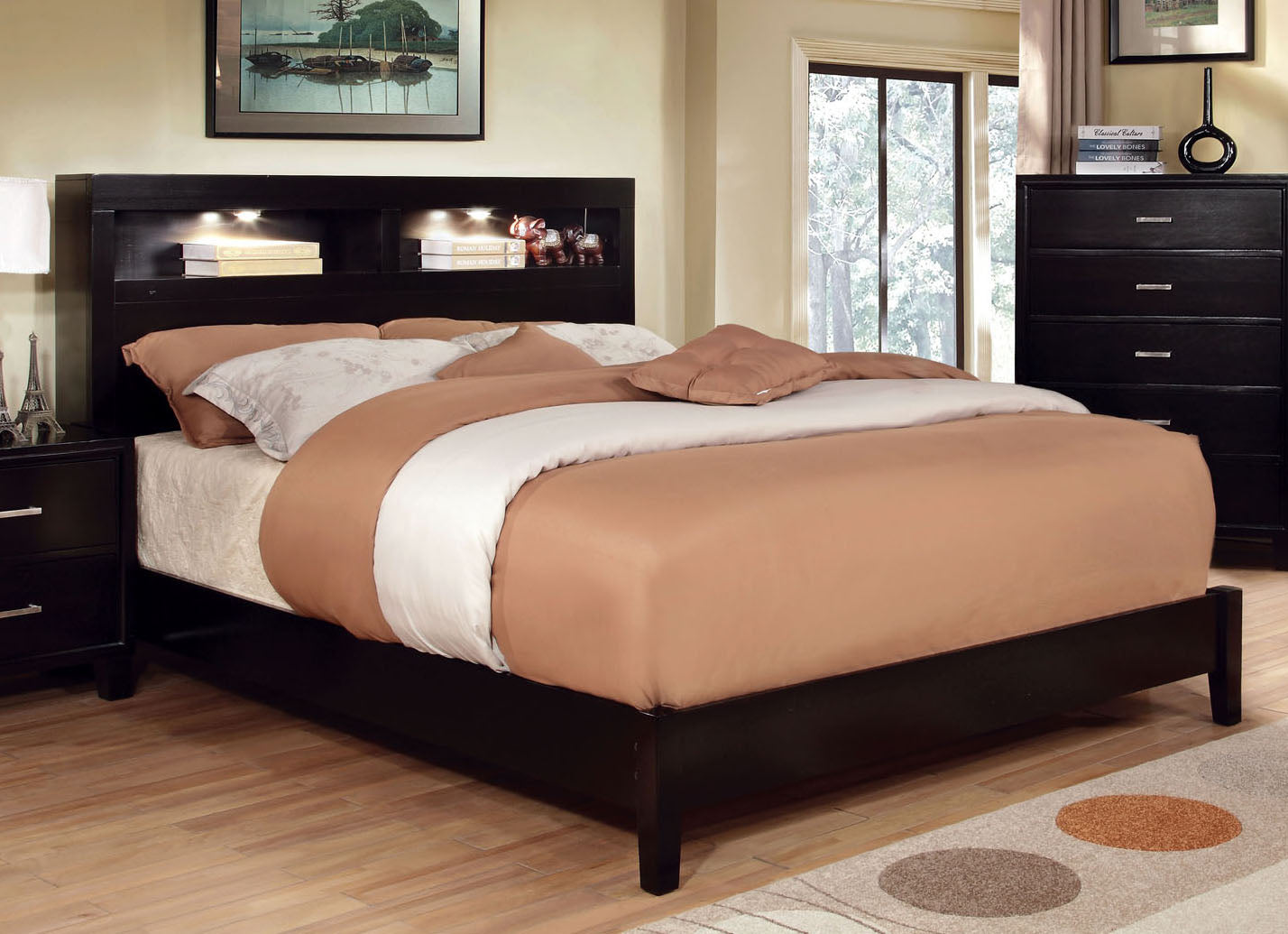 Gerico I CM7290EX-EK Contemporary Espresso Eastern King Platform Bed