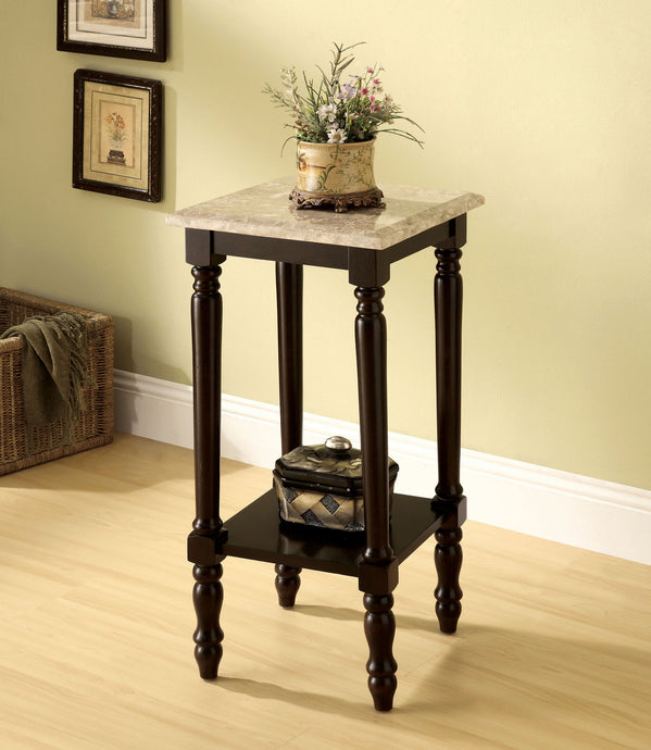 Furniture of America CM-AC787 Santa Clarita Cherry Square Top Stand
