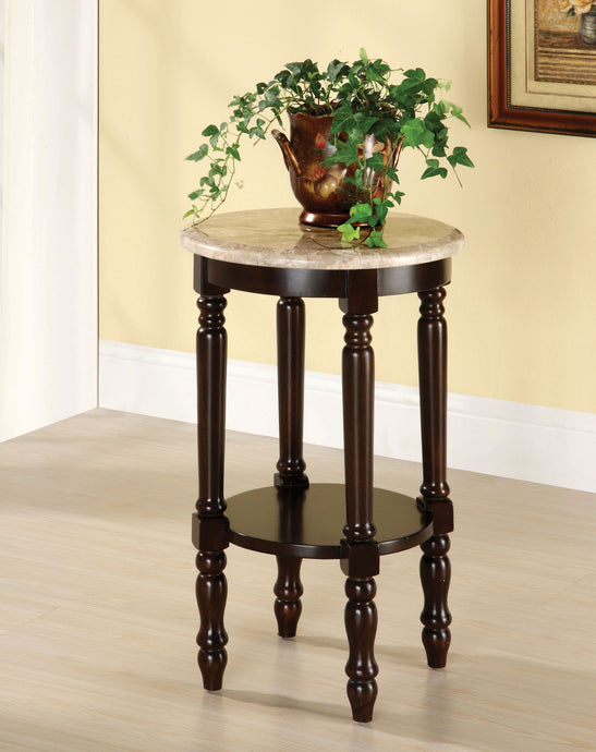 Furniture of America CM-AC788 Santa Clarita Cherry Round Top Stand