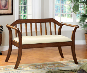 Furniture of America CM-BN6681 Derby Dark Oak Wood Finish Bench