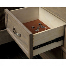 Load image into Gallery viewer, Furniture Of America Loxley Weathered Oak Felt-Lined Top Drawers Nightstand