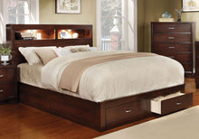 Load image into Gallery viewer, Furniture Of America Gerico II Brown Cherry Finish Queen Storage Platform Bed