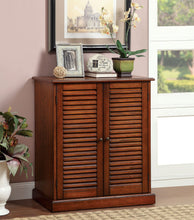 Load image into Gallery viewer, Furniture of America Della Dark Oak Wood Finish Shoe Cabinet