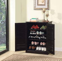Load image into Gallery viewer, Furniture of America Della Espresso Wood Finish Shoe Cabinet