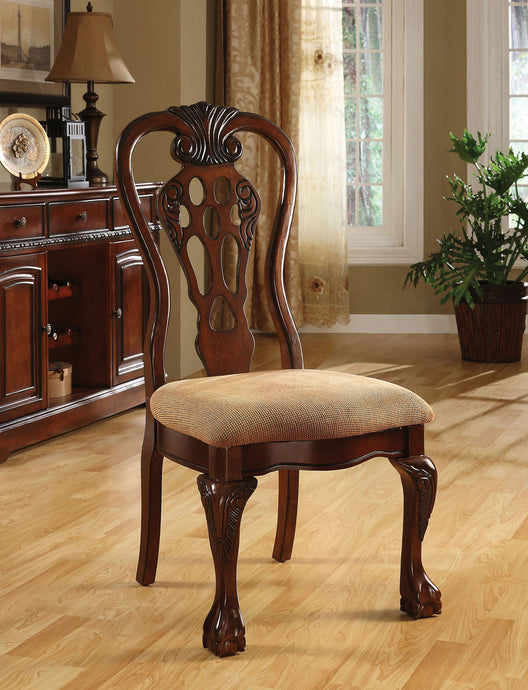 Furniture of America George Town Cherry Wood Finish 2 Piece Side Chair
