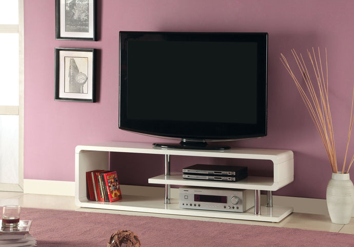 Furniture of America Ninove II White Wood Finish TV Console