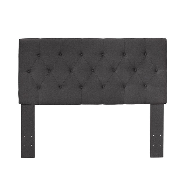 Furniture Of America Leeroy II Contemporary Gray Fabric Finish Twin Headboard