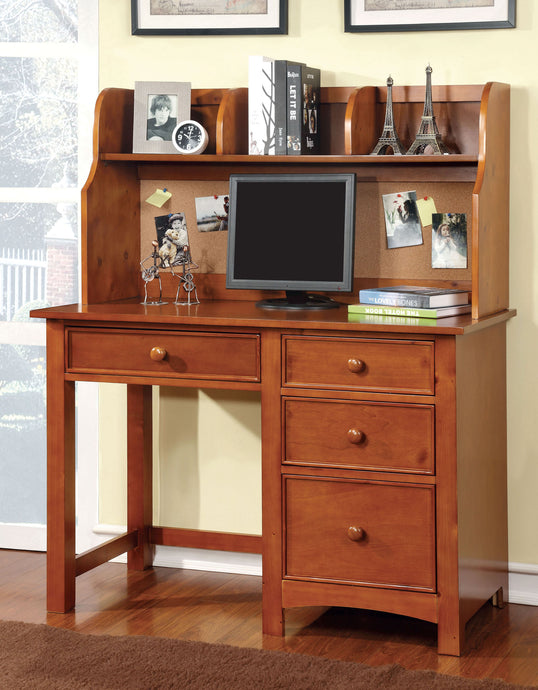 Furniture of America CM7905OAK-DK Omnus OAK Desk with Hutch