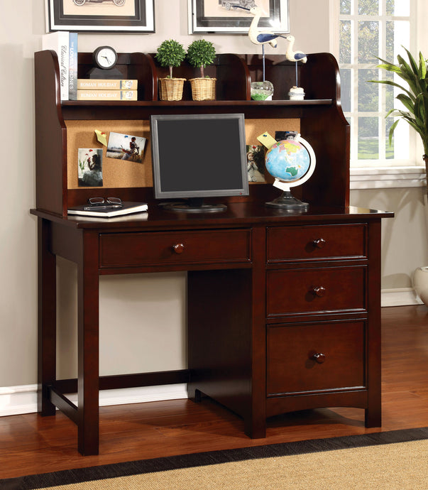 Furniture of America CM7905CH-DK Omnus Cherry Desk with Hutch