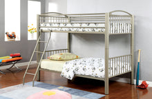 Load image into Gallery viewer, Furniture of America Lovia Metal Twin Over Twin Bunk Bed