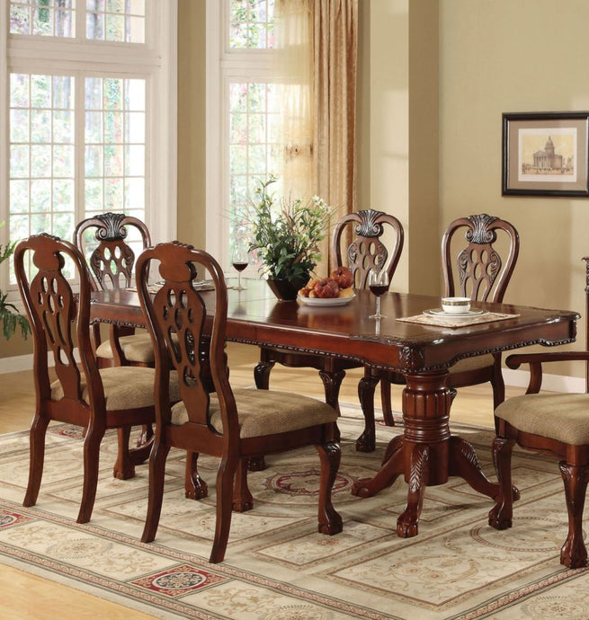CM3222T George Town Cherry Dining Table with Expandable Leaf