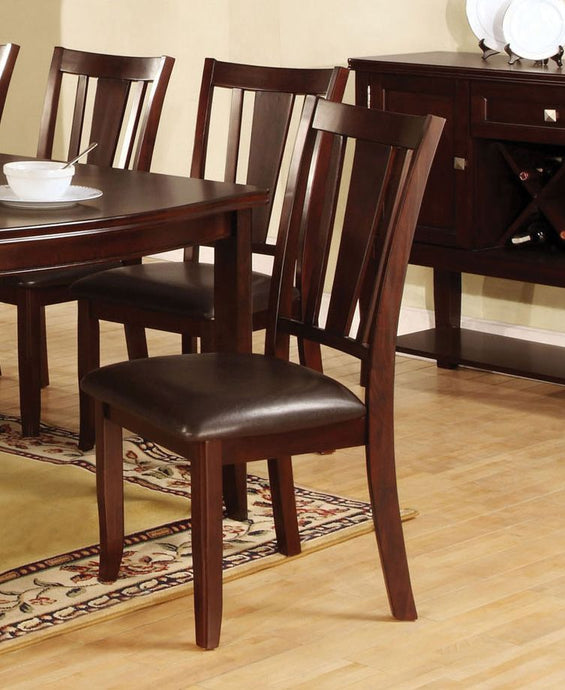 Furniture of America Edgewood I Espresso Wood Finish 2 Piece Side Chair