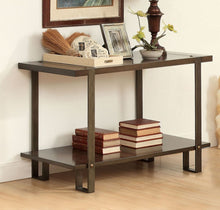 Load image into Gallery viewer, Furniture of America Arbor Rustic Metal And Wood Finish Sofa Table