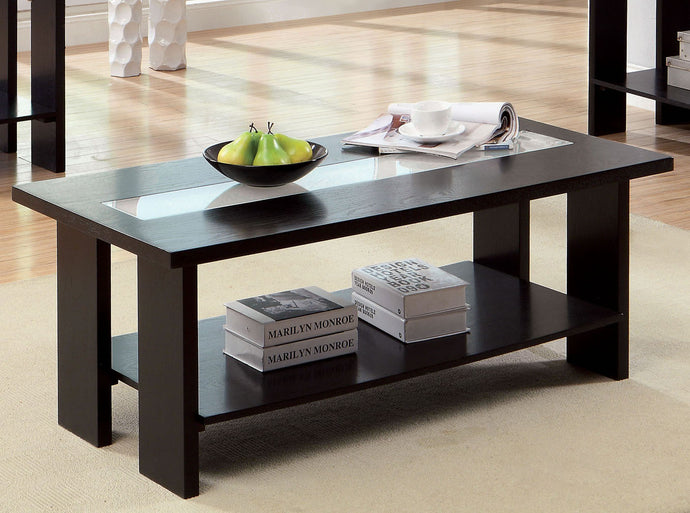 Furniture of America CM4559C Luminar Tempered Glass Coffee Table