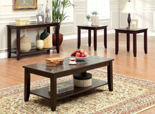Load image into Gallery viewer, Furniture of America Townsend III Dark Cherry Wood Finish 3 Piece Coffee Table Set