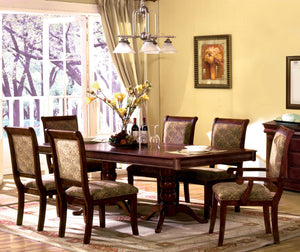Furniture Of America ST Nicholas Antique Cherry Wood Finish 7 Piece Dining Table Set