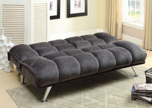 Load image into Gallery viewer, Marbelle CM2904GY Contemporary Gray Champion Fabric Futon Sofa Bed