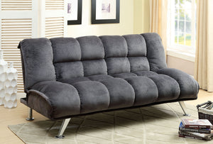 Marbelle CM2904GY Contemporary Gray Champion Fabric Futon Sofa Bed