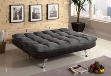 Load image into Gallery viewer, Furniture of America CM2905GP Tigray Gray Microfiber Futon Sofa Bed