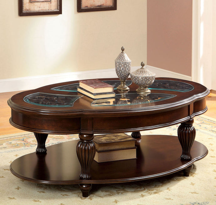 Furniture of America Centinel Traditional Dark Cherry Coffee Table