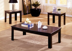 Furniture Of America Town Square I Espresso Wood Finish 3 Piece Coffee Table Set