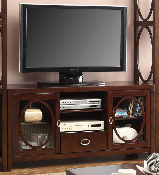 Furniture of America CM5051-TV Melville Cherry Finish TV Console