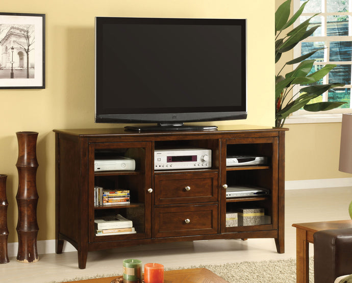 Furniture of America CM5420-TV Lancaster Dark Walnut Finish TV Console