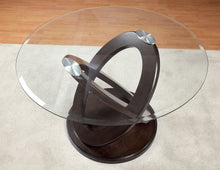Load image into Gallery viewer, Furniture Of America Atenna I Dark Walnut Glass Top Finish Round Dining Table