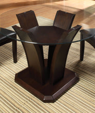 Load image into Gallery viewer, Furniture of America Manhattan Contemporary Dark Cherry Round Dining Set