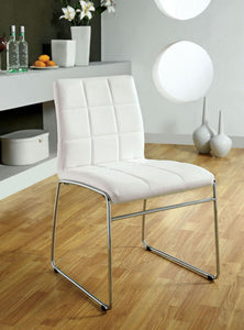 Kona I CM8320WH-SC Contemporary White Side Chair Set of 2