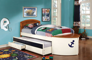 Voyager CM7768 Multicolor Boat Captain Twin Bed 2 Drawers Trundle