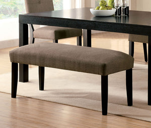 Furniture of America CM3311BN Bay Side I Espresso Dining Bench