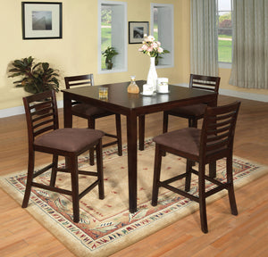 Eaton II CM3001PT-5PK Transitional Espresso Counter Height Table Set