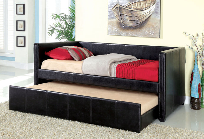 Furniture of America CM1955BK Cadiz Black Daybed with Trundle