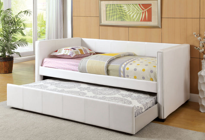Furniture of America CM1955WH Cadiz White Daybed with Trundle