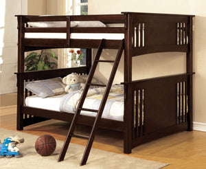 Spring Creek CM-BK603EXP Mission Dark Walnut Full over Full Bunk Bed