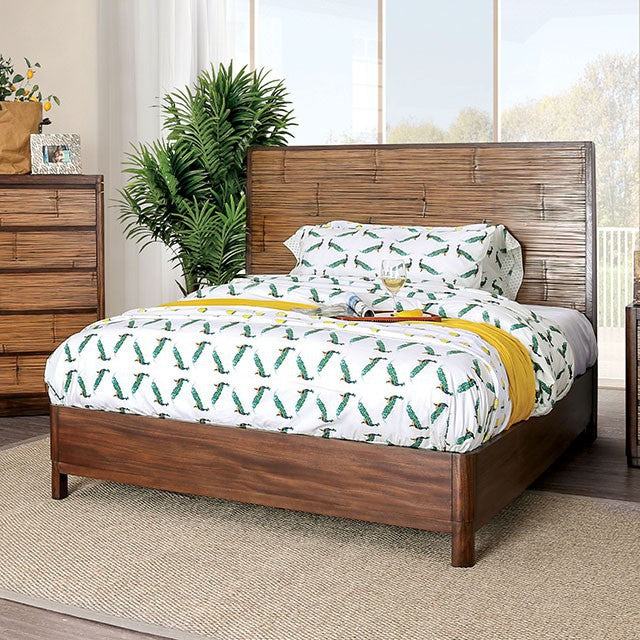 Furniture Of America Covilha Brown Wood Finish California King Bed