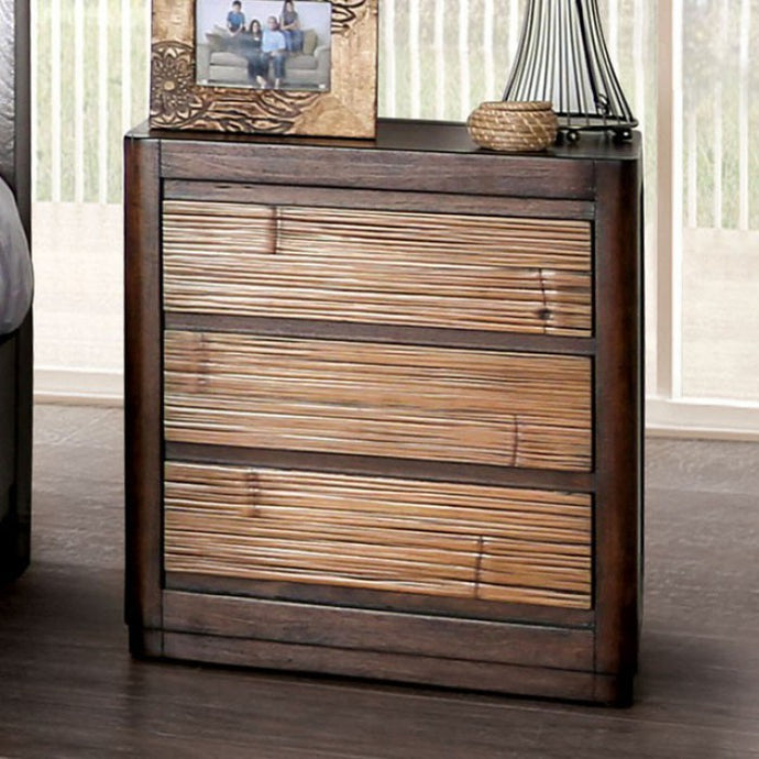 Furniture Of America Covilha Brown Wood Finish Nightstand