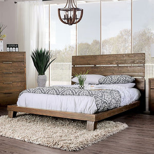 Furniture Of America Tolna Walnut Wood Finish Eastern King Bed