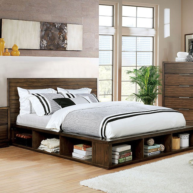 Furniture Of America Tolna Antique Walnut Wood Finish Queen Bed