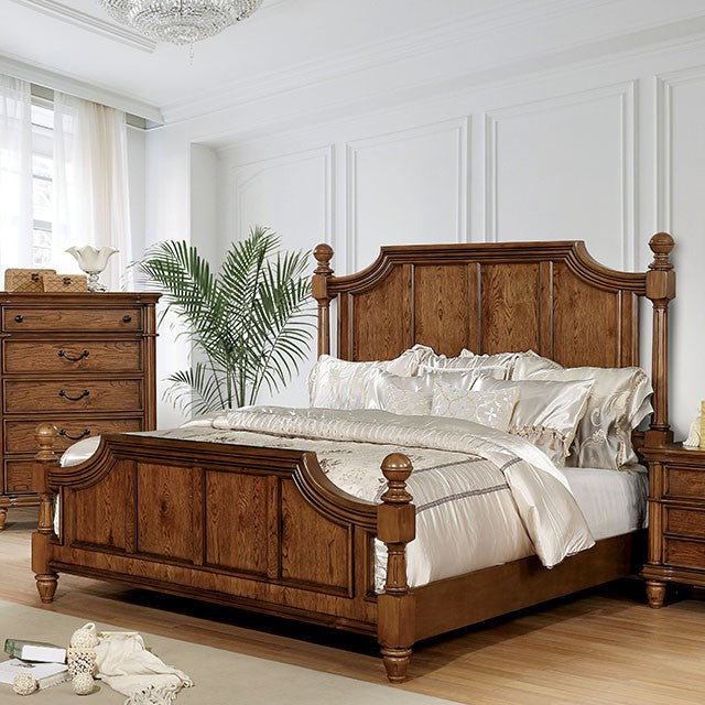 Furniture Of America Mantador Oak Wood Finish Queen Bed