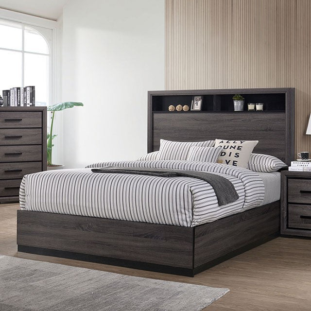 Furniture Of America Conwy Gray Wood Finish Queen Bed